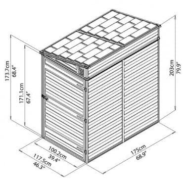 מחסן גינה סקילייט פנט 4X6 אפור