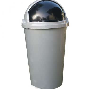 פח מצחייה אפור 50 ליטר פלסטיק